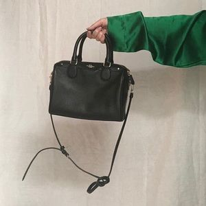 Coach Black Pebble Leather Bennett Bag